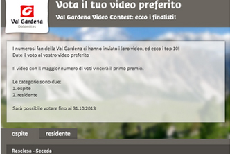 Video Contest Val Gardena